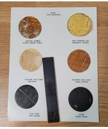 Vintage Sohio Standard Oil Gas Station Atlas Tires Material Sample Displ... - $22.23