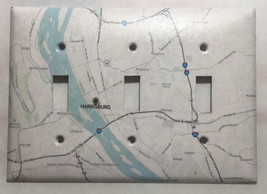City Map Harrisburg PA Light Switch Outlet Toggle Rocker Cover Plate Home Decor image 2