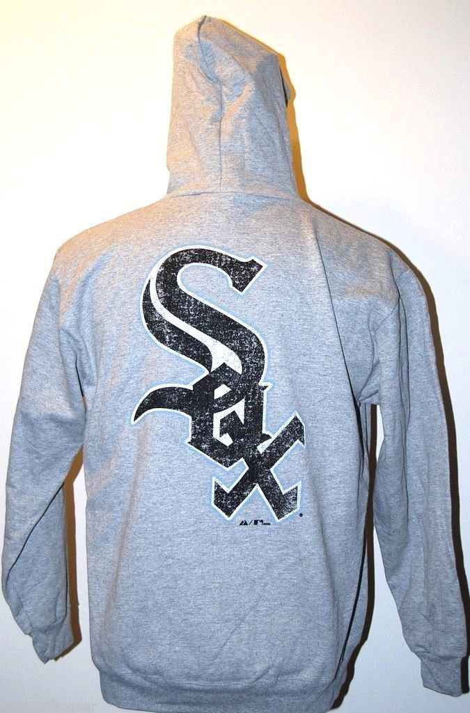 Primary image for CHICAGO WHITE SOX - MAJESTIC MLB BASEBALL DUAL LOGO HOODED ZIP SWEATSHIRT -MED