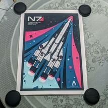 Mass Effect Limited Edition SR1 Normandy Retro Art Poster Print 18x24 Mondo - $149.99