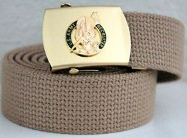 US Army Recruiter Khaki Military Belt & Buckle - $17.81
