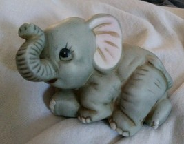 Vintage Homco Home Interiors Elephant Baby Figurine #1400 w/ Original Sticker - $8.79