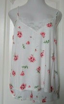INC Blue and white rose print Camisole and Tap Pant Pajama Set Size XX L... - $19.75