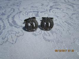 Vintage Sterling Marcasite Cuff Links~GD Monogram~Nice!! - $41.91