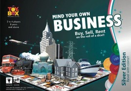 Toys Box Mind Your Own Business Game Silver Edition Coin Players 2-4 Age 8+ - $30.06