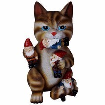 Cat Massacre Figurine Garden Gnome Statue Yard Lawn Patio House Door Art... - €29,80 EUR