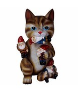 Cat Massacre Figurine Garden Gnome Statue Yard Lawn Patio House Door Art... - $33.57
