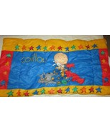 "Caillou toddler child size sleeping bag blanket 55"" long red blue yellow... - $29.69"