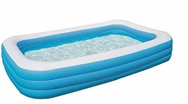"Bestway H2OGO! 10' x 6' x 22"" Deluxe Blue Rectangular Family Pool"