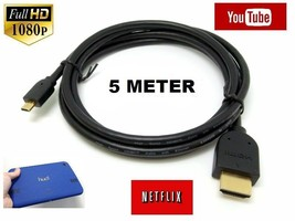 Micro HDMI to HDMI Cable Lead for TESCO HUDL 2 & TESCO HUDL 1 HDTV (5 ME... - $6.28