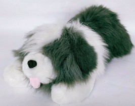 "Commonwealth Lush Plush Gray White Dog Stuffed Animal Toy 1989 22"" - $49.99"