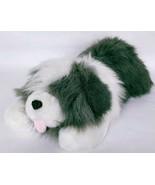 "Commonwealth Lush Plush Gray White Dog Stuffed Animal Toy 1989 22"" - $49.99"