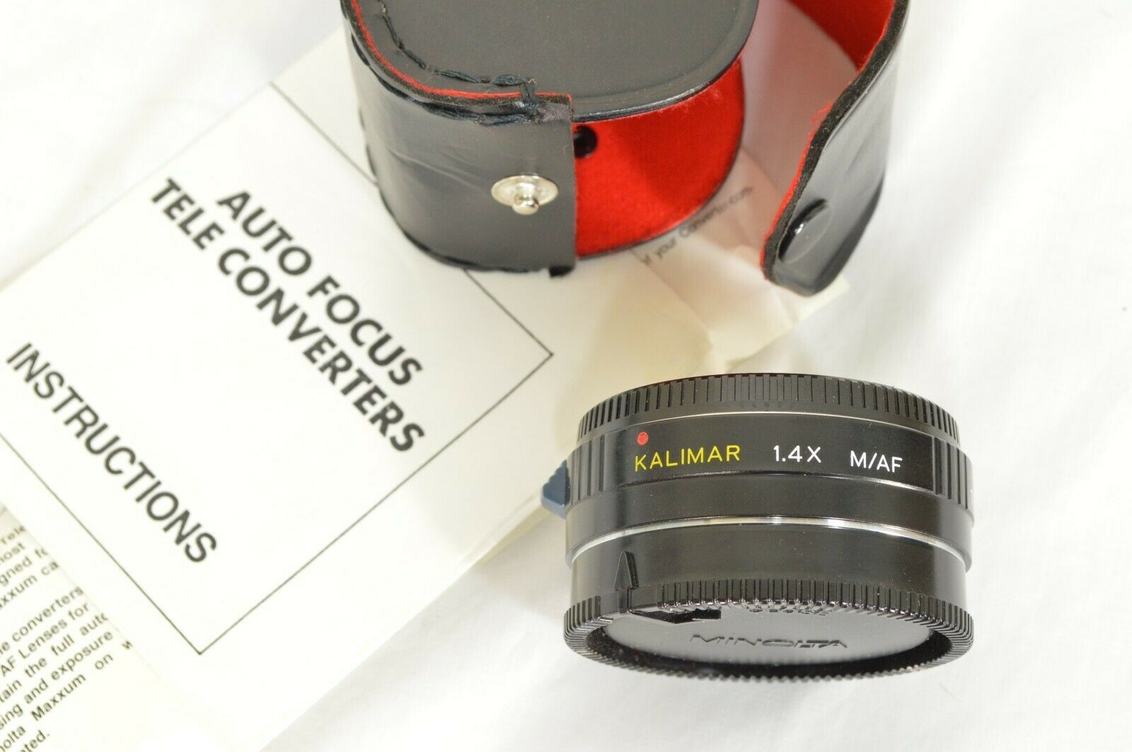Kalimar 1.4 X M/AF Tele Converter Auto Focus camera lens w/ case & instructions