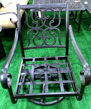 11 piece aluminum outdoor dining set patio chairs table Santa Anita bronze image 6