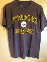 Pittsburgh Steelers T-Shirt Mens Size M NFL Team Apparel Grey - $9.79