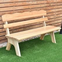 Outdoor Wooden Garden 3 Seats Bench Chair Wood Frame Yard Deck Park Play... - $110.71