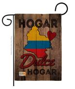 Country Colombia Hogar Dulce Burlap - Impressions Decorative Garden Flag... - $22.97