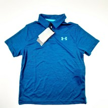 Under Armour Loose Boys Polo Shirt Size YSmall Blue QG15 - $16.82