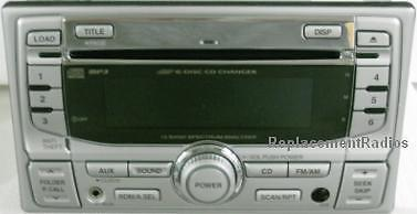 Primary image for Honda 1998+ CD6 MP3 radio +front aux. OEM factory original CD changer stereo grn