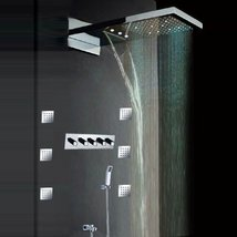 """Fuloon 9 x 21.8"""" Stainless Steel Satin Wall Mount Shower Faucets Rainfall Shower - $1,187.95"""