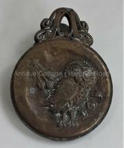 antique Brass Owl of Athena AOE Paper Holder Clip parthenon Greece Miner... - $68.95