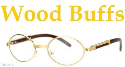 ad58b8bac3 S l1600. S l1600. Previous. New Oval Wood Buffs clear glasses Oval UV400  Lenses Gold frame RICH · New Oval ...