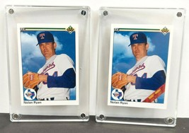 2 Card Mint Lot 1990 Upper Deck #734 NOLAN RYAN with 300 WIN Stripe and Without - $7.12