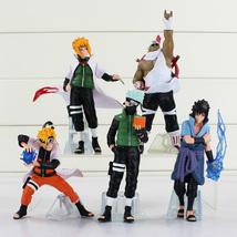 5PCS/Set Anime Naruto Shippuden Sasuke Gaara PVC Action Figure Opp bag NEW - $25.00