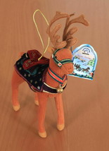 """Applause Enchanted Prancers Ornate Plush 8"""" Reindeer Ornament in Light Brown NWT - $12.95"""