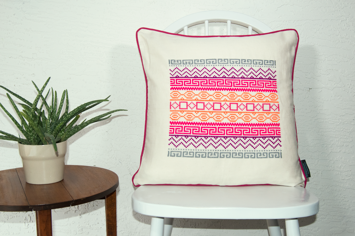 Primary image for Felice Hand Stitched Accent Pillow Geometric