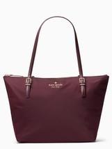 Kate Spade Nylon Tote Shopper Top Zip WATSON LANE MAYA **Deep Plum** NWT... - $3.263,59 MXN