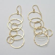 Drop Earrings 925 Silver Gold Foil & Circles by Maria Ielpo Made in Italy image 7