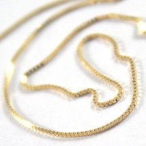 18K YELLOW GOLD CHAIN NECKLACE 0.5 mm MINI VENETIAN LINK 15.75 IN. MADE IN ITALY image 2