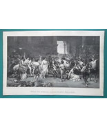 ALEXANDER GREAT Orgy Before Burning Persepolis - VICTORIAN Era Print 13.... - $20.16