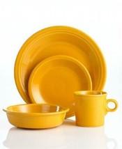 4 Pc Fiesta MARIGOLD Plates Bowl Mug Place Setting NIB DISC 75th Anniver... - $59.99