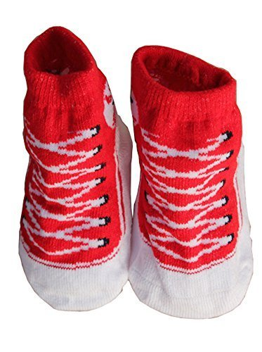 Toddler Non-Slip Infant Socks /Baby Stockings/ Newborn Infant Shoes Red