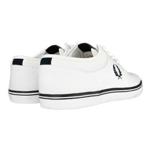 Perry Plimsolls B8284 Canvas 100 Trainers White Casual Shoes Fred Stratford d6IqTCd