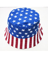Stripe Stars American Flag Bucket Hat 4th of July Patriotic Cap Women Ma... - $12.19