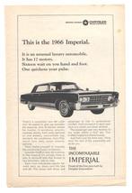 "1966 Chrysler Imperial  440 ci V-8   Original Print Ad  6"" x 9""  - $9.95"