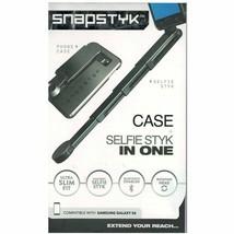 Galaxy S6 Case & Selfie Styk In One Black Ultra Slim Fit Bluetooth Snaps... - $16.82