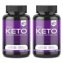 SPARX Nutrition Keto BHB Salts Exogenous Ketones 1000mg Weight Loss 60 Caps x 2 - $96.99