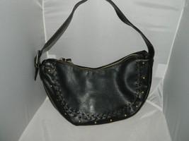 Vintage NINE WEST Black Leather Hobo Handbag Purse - Very Little Wear - $24.75