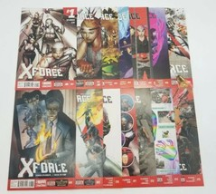 X-Force 1-13 & 15 Volume 4 Nearly Complete April 2014 Marvel Comic Book ... - $48.37