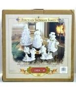 Grandeur Noel Collector's Edition 2000 Porcelain Snowman Family - $74.99