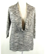 Dressbarn Layered Top Size 3X One-Piece Silver Shimmer Knit Fitted - $21.99