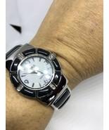 Cubierto Estilo Vintage Ónice Negro Piedra Brazalete Reloj de Pulsera - $44.58