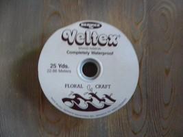 """BERWICK older Veltex Floral Craft Ribbon Red 1 7/16"""" Wide - $3.95"""