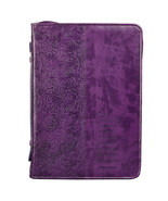 "Bible Cover Brand NEW Faith Hebrews 11:1 XL Purple 11 1/8"" x 8"" x 2 1/8"" - $28.23"