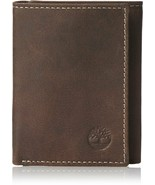 Timberland Cloudy Passcase Brown Genuine Leather Credit Card Trifold Men... - $19.99