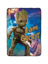 """Marvel Guardians of The Galaxy 2 I Am Groot Plush Twin Blanket, 62"""" x 90"""" - $46.02"""